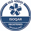 ISOQAR Registered Company - ISO 45001